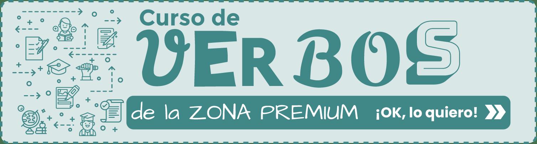 Banner Curso de Verbos de la Zona Premium de Tu escuela de español