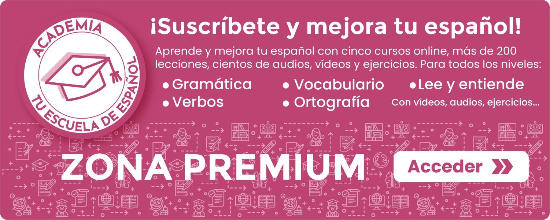 Banner Zona Premium de Tu escuela de español