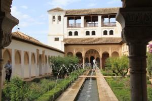 Patio de la Acequia del Palacio del Generalife