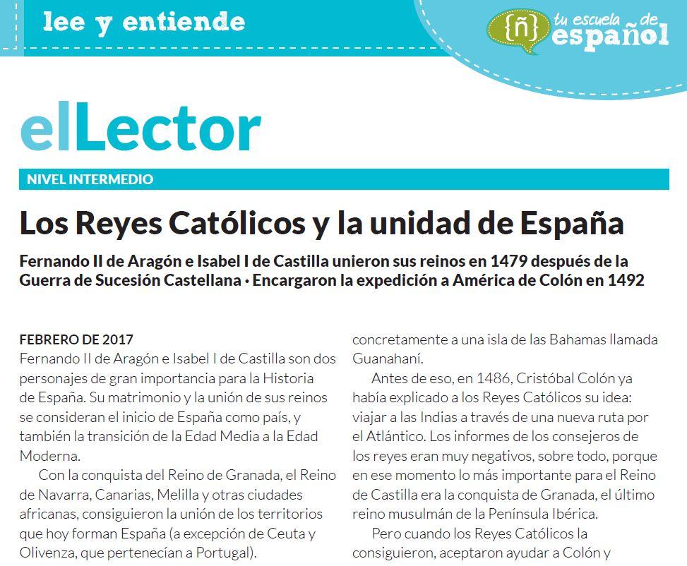 Artículo en la Zona Premium sobre los Reyes Católicos.