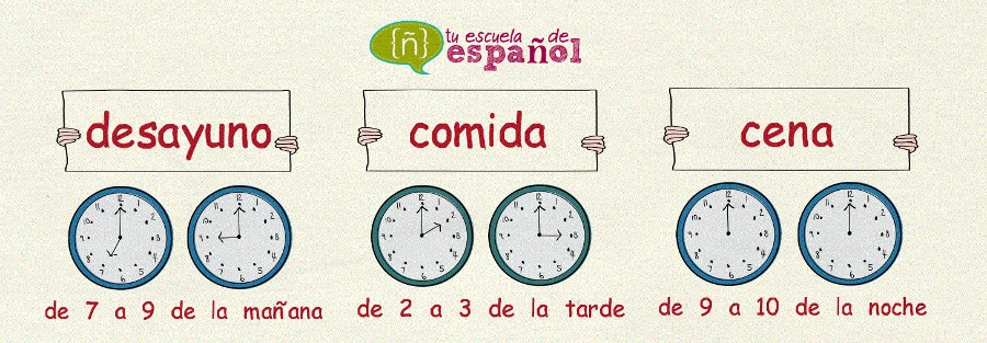 Horarios de las comidas en España