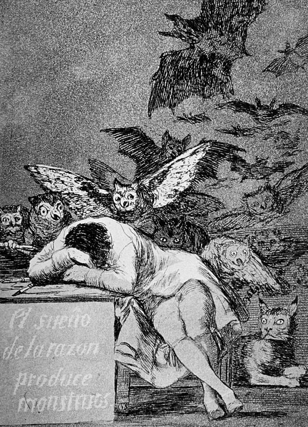 El sueño de la razón produce monstruos (Los Caprichos)