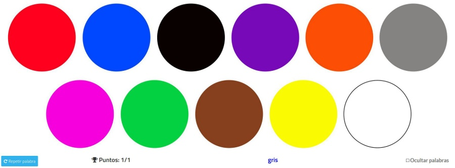 Captura juego colores
