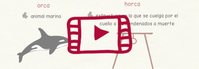 Vídeo sobre las palabras homófonas con H y sin H