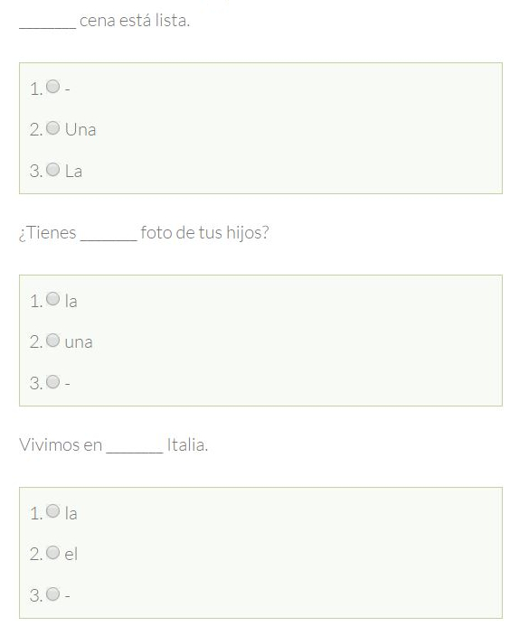 Uso De Los Artículos En Español Tu Escuela De Español