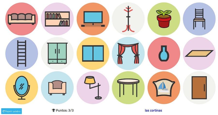 Practica el vocabulario de los muebles y otros objetos de for Muebles de la casa