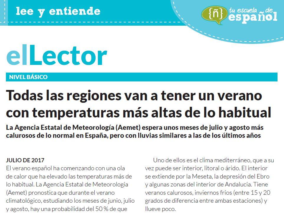 Artículo sobre el clima en España
