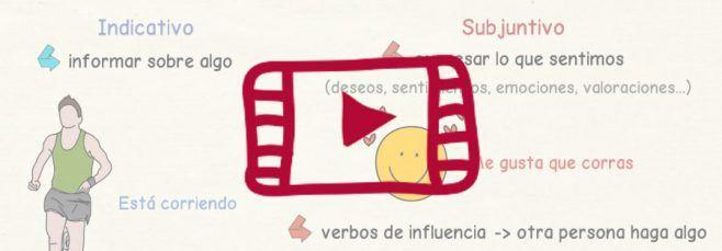 Vídeo sobre las diferencias entre el indicativo y el subjuntivo