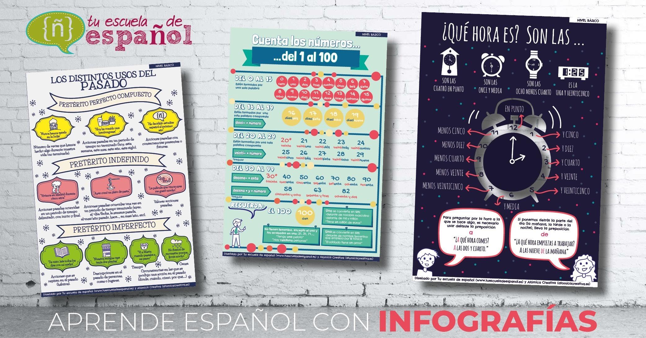 Infografías de gramática y vocabulario