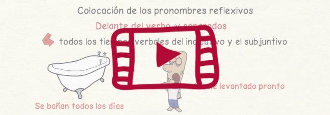 Vídeo sobre los verbos reflexivos en español