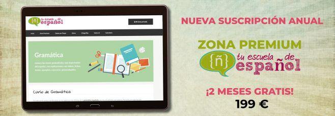 Suscripción anual Zona Premium de Tu escuela de español
