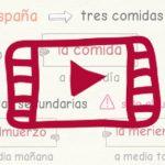 Las comidas en España (actualización con vídeo)