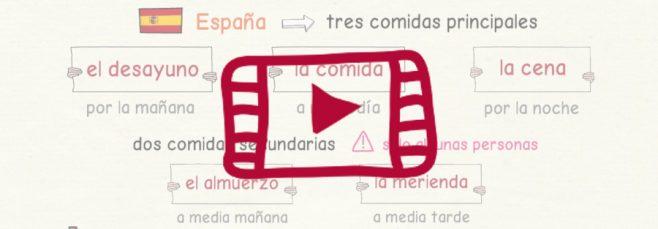 Vídeo sobre las comidas en España