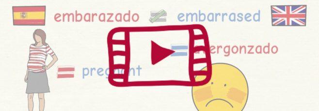 Segundo vídeo con los falsos amigos entre el español y el inglés