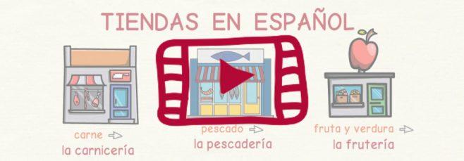 Vídeo con el vocabulario de las tiendas y comercios en español