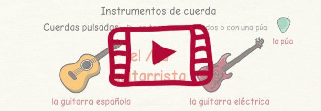 Vídeo con los nombres en español de los instrumentos musicales
