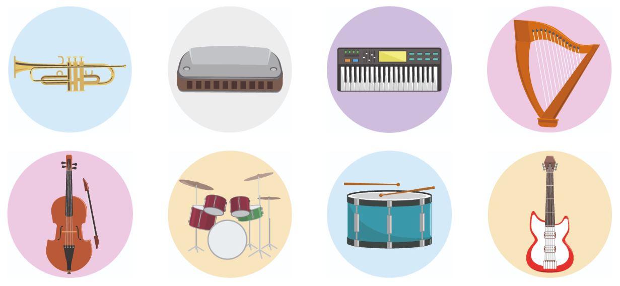 Ejercicio para practicar el vocabulario de los instrumentos musicales