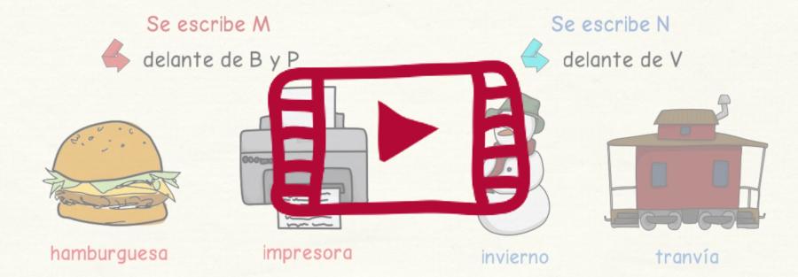 Vídeo sobre cuándo escribir M y N en español