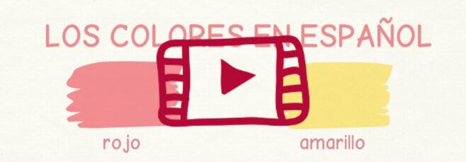 Vídeo con el vocabulario de los colores en español