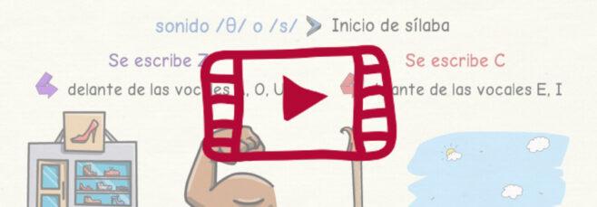 Vídeo para aprender a escribir Z y C