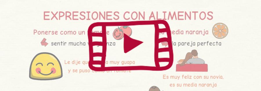 Vídeo con expresiones con alimentos en español